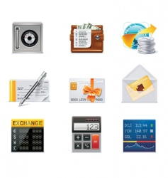 vector banking icons part 2 vector image