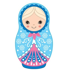 Winter Matryoshka vector image