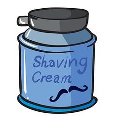 A shaving cream vector