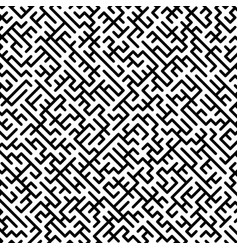 Abstract maze pattern vector