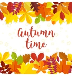 Autumn time lettering background vector