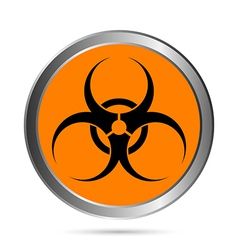 Biohazard sign button vector