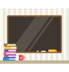 Books and black board Back to school Education vector image