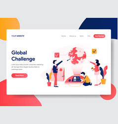 business global challenge concept vector image