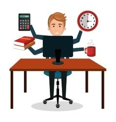Busy person design vector