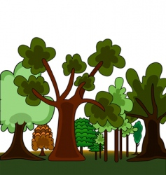 cartoon style forest vector image vector image