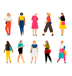 casual woman persons adults female characters vector image