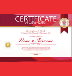 Certificate template abstract geometric design vector