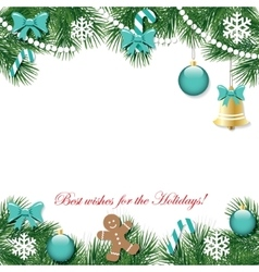 Christmas and New Year decorative background vector image