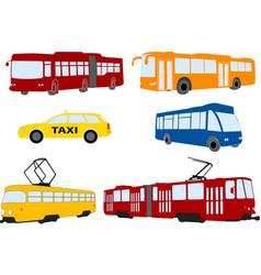 city public transportation set vector image