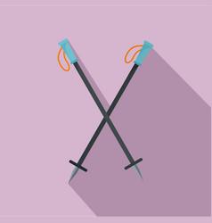 climb sticks icon flat style vector image