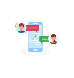communication chatting isometrics flat style vector image