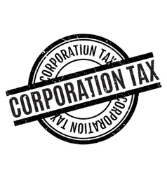 Corporation Tax rubber stamp vector image