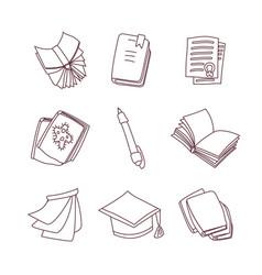 cute cartoon book notebook calendar vector image