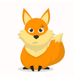 Cute fox character with an angry expression vector