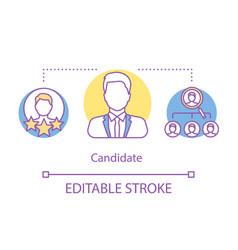 Elections concept icon president politician vector