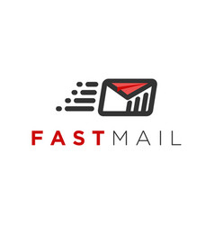 Email logo with cloud elements as internet vector