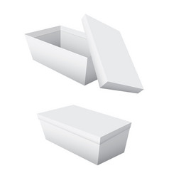 empty boxes and lids separated on a white vector image