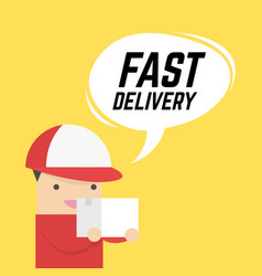 fast delivery service express delivery courier vector image