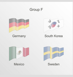flag group f world football championship vector image