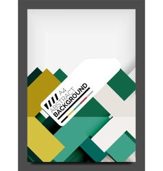 Flyer design template business web layout vector image