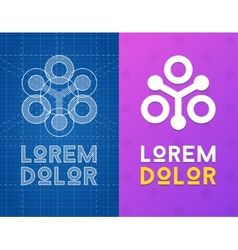 Geometric icon for business with scheme vector