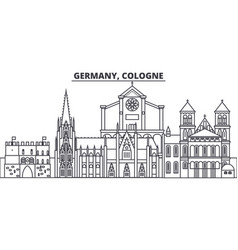 Germany cologne line skyline vector