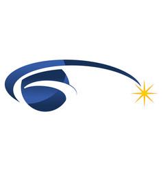 global solution logo design template vector image