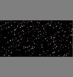 Gold stars random luxury sparkling confetti scatt vector
