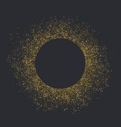 golden dust circle with space for text vector image