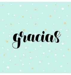 Gracias Thank you in Spanish vector