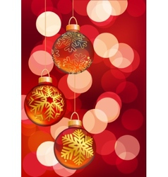 Hanging Christmas balls vector