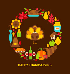 Happy thanksgiving postcard vector