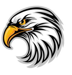 Hawk eagle head usa logo mascot 04 vector