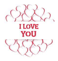 Heart i love you handmade composition vector