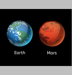High quality mars planet galaxy astronomy earth vector