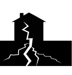House and earthquake vector
