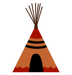 Indian wigwam on white background vector