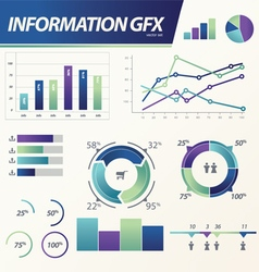 Info graphics Business e commerce statistic vector image