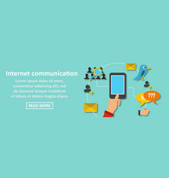 internet communication banner horizontal concept vector image