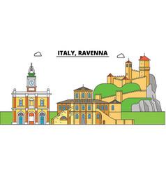 italy ravenna city skyline architecture vector image