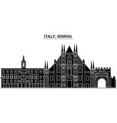 italy rimini architecture city skyline vector image