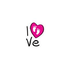 Its a girl slogan i love my baby vector