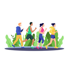 jogging people vector image