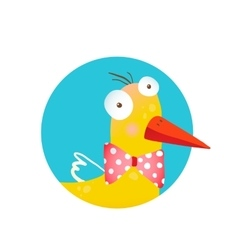 Kids Duck Fun Circle Icon vector image