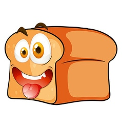 Loaf of bread with face vector