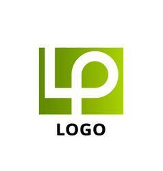 lp company logo template vector image