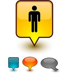 Male speech comic icons vector image