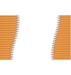 many pencils arranged in vertical waves on a vector image