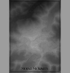 Map mount mckinley denali alaska vector